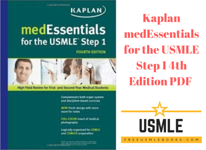 Download Kaplan medEssentials for the USMLE Step 1 4th Edition PDF Free