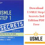 Download USMLE Step 1 Secrets 3rd Edition PDF Free