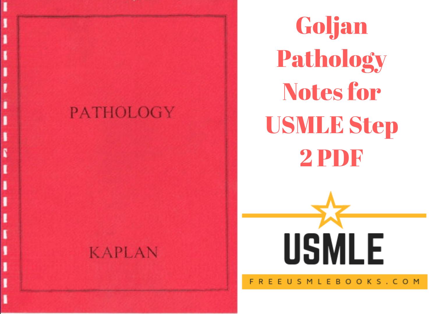 Download Goljan Pathology Notes for USMLE Step 2 PDF Free [Direct Link]