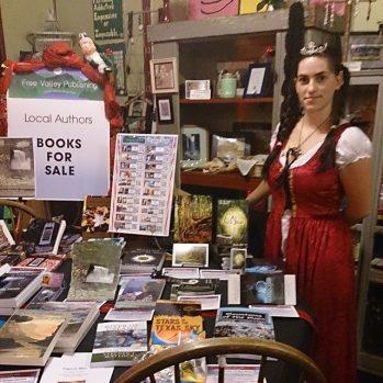 Rachel Barnard with FVP's 2014 Books
