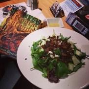 Victoria Bastedo's Roots Etwine book and corresponding salad...It was delicious!