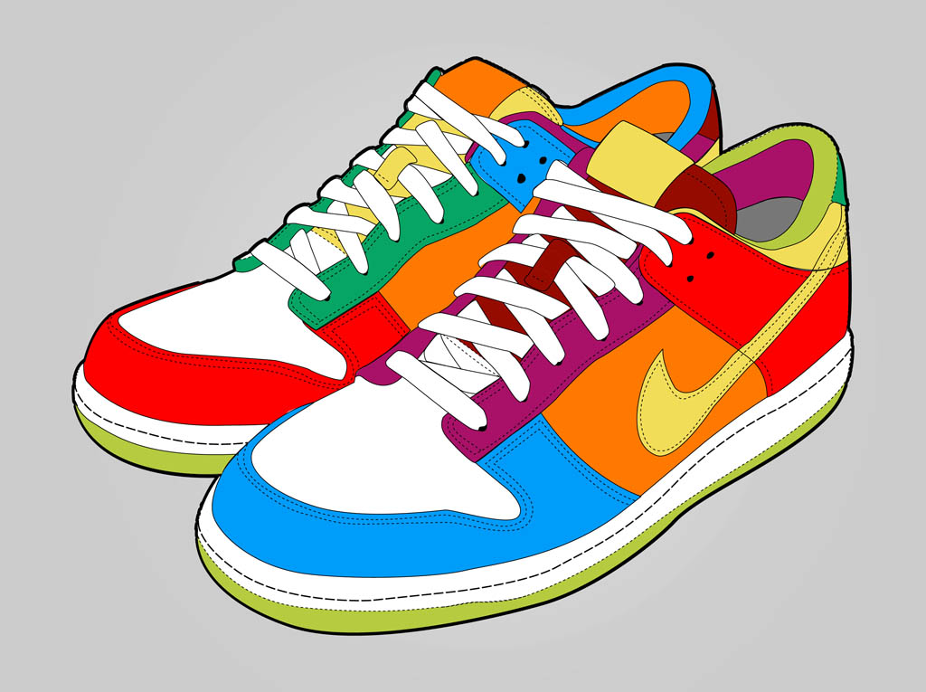 Colorful Shoes Vector Art & Graphics