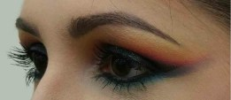 Leana is not afraid of using color to create this stunning sunset eye. (Photo by Leana Washington)