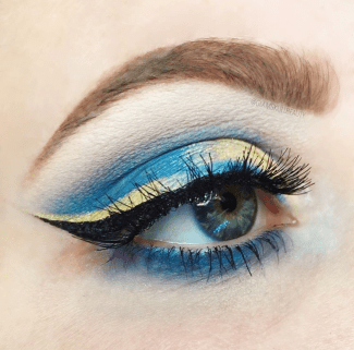 Cinderella inspired this eye look. She used Urban Decay's Full Spectrum palette. (Photo by Chelsea Clement)