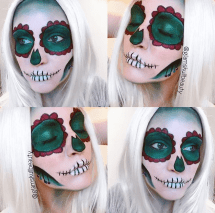 She created a festive skull look around the holidays. This is my favorite out of her skull inspired looks. (Photo by Chelsea Clement)
