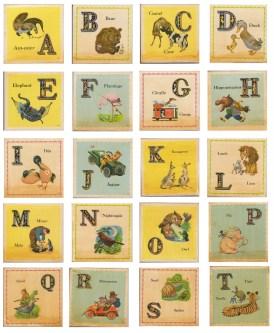 vintage animal school cards 2
