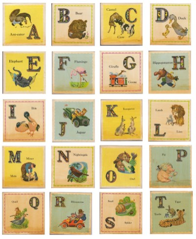 vintage animal school cards 2