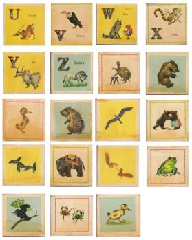 vintage animal school cards 3