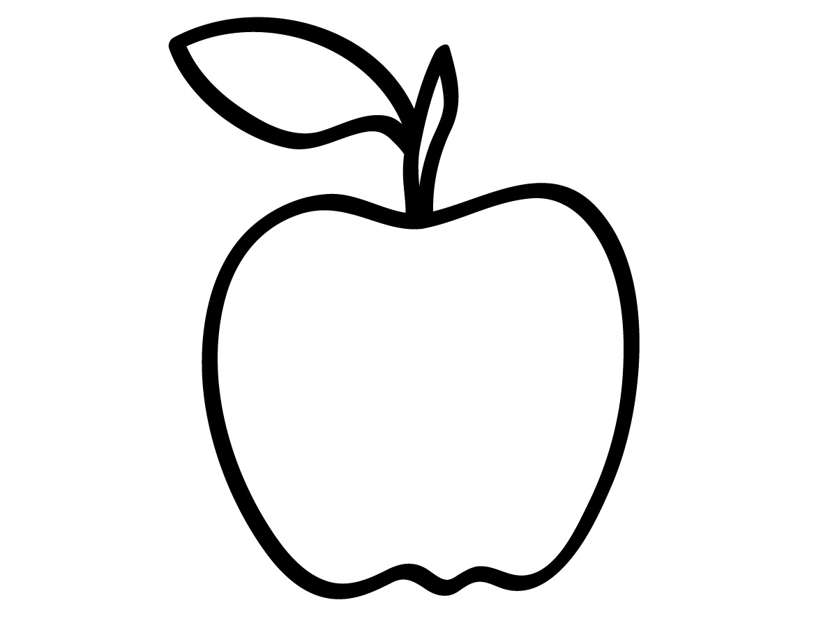 A free apple shape for making greeting cards for teachers.