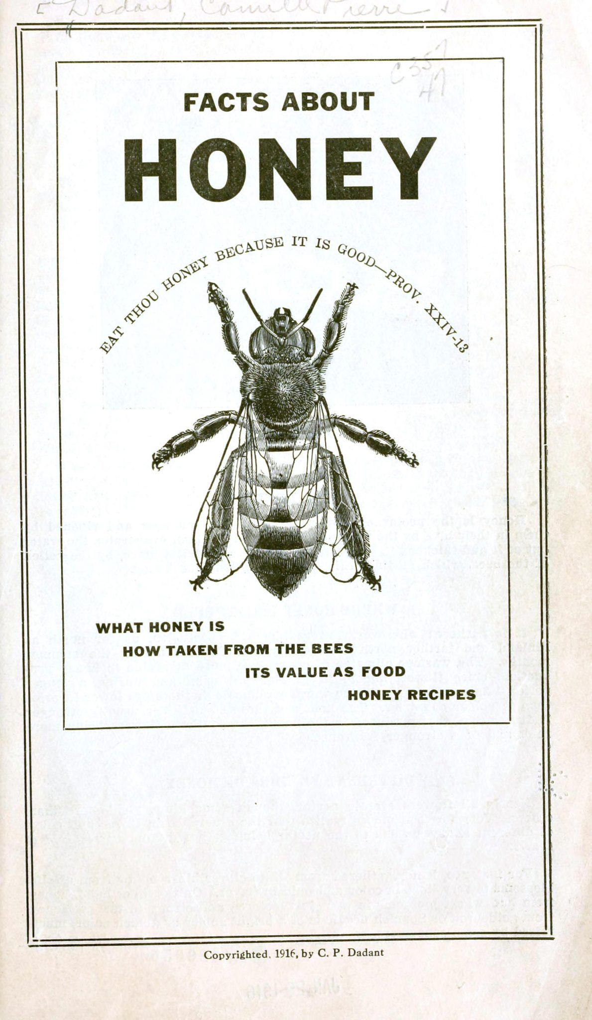 A vintage illustration for honey facts.