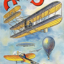 Free public domain children's book illustrations. ABCs in Flight!