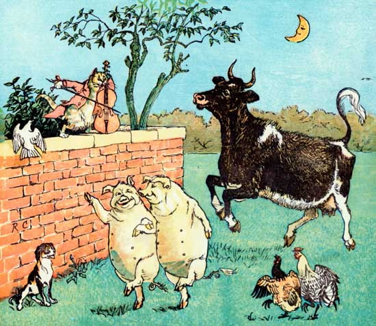 Classic public domain storybook illustration for kids