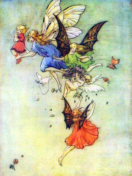 a whimsical public domain fairies print