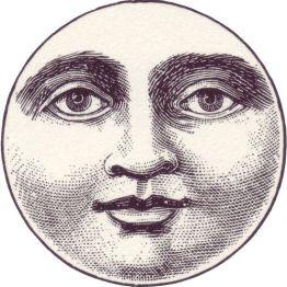 Vintage moon face