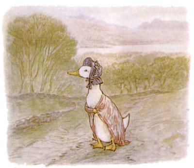 free public domain vintage illustration of ducks beatrix potter jemima puddleduck 2