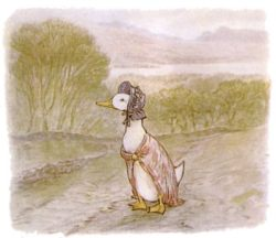 free public domain vintage illustration of ducks beatrix potter jemima puddleduck 2