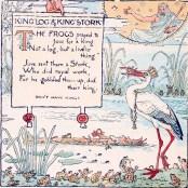 public domain aesop pelican illustration vintage childrens books