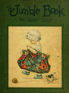 david cory, david cory book, vintage david cory book, the jumble book, jumble book david cory, jumble book cover, vintage book cover, vintage childrens book cover, vintage illustration girl sewing bag, whimsical illustration, vintage illustration, vintage, antique, antique illustration, book cover, book illustration, vintage book illustration, antique book illustration, whimsical vintage illustration, free illustration, free art, free image, free resources, storybook style illustration, whimsical style illustration, public domain, public domain image, public domain illustration, vintage public domain