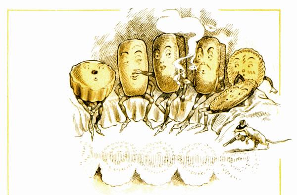 public domain vintage illustration from antique childrens cookbook