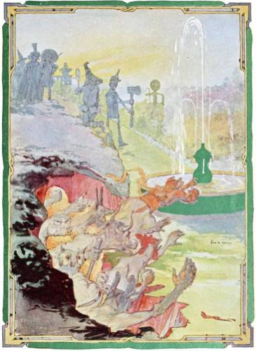 public domain vintage color book 16 illustration emerald city of oz