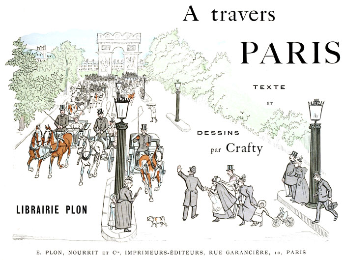 A free public domain illustration of Paris from public domain french travel book