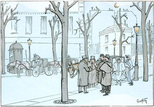 A free vintage illustration of paris france from public domain travel book