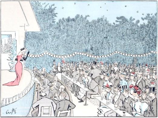 A free public domain vintage illustration of paris france