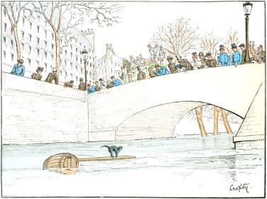 this free public domain book illustration depicts vintage Paris france