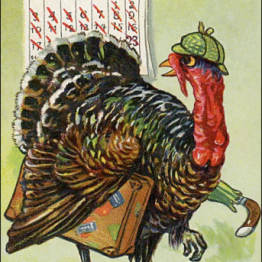 A free vintage thanksgiving illustration in the public domain