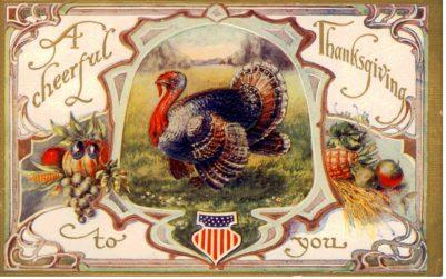 public domain color vintage thanksgiving greeting 2
