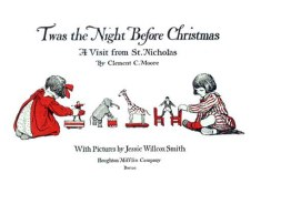 A public domain book cover from a vintage twas the night before christmas book