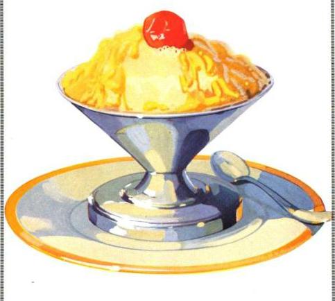 Antique Ice Cream Il Rations In Public Domain Image