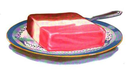 A Free vintage illustration of neapolitan ice cream from antique trade journal