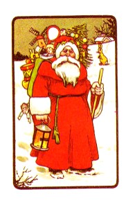 free victorian vintage christmas santa