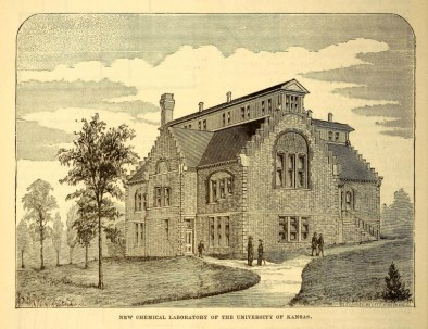 A free vintage scientific illustration of a University Chemistry building