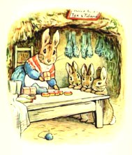 free vintage illustration of beatrix potter benjamin bunny 4