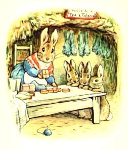 free vintage illustration of beatrix potter benjamin bunny 4