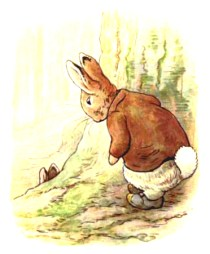This is a free vintage easter illustration of Benjamin Bunny edited from the 1904 classic by Beatrix Potter