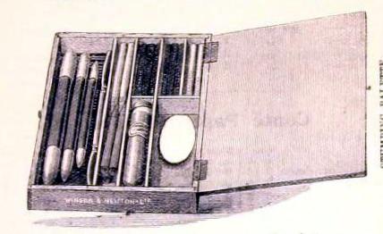 Free vintage illustration of an antique chalk set