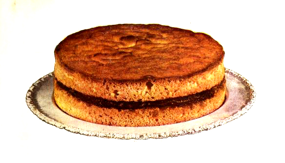 A simple layer cake illustration from an antique cookbook