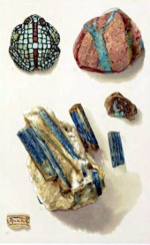 Free vintage illustration of antique rocks and minerals