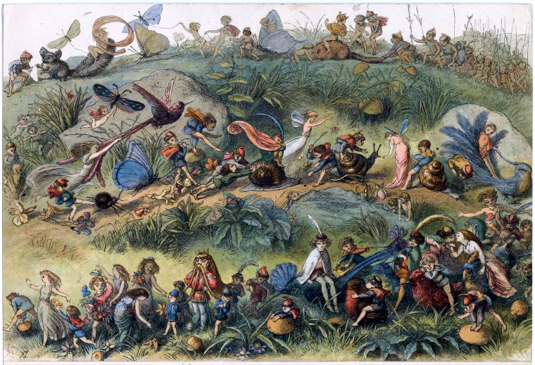 Elves, fairies, and insects in Richard Doyle In Fairyland (1870)