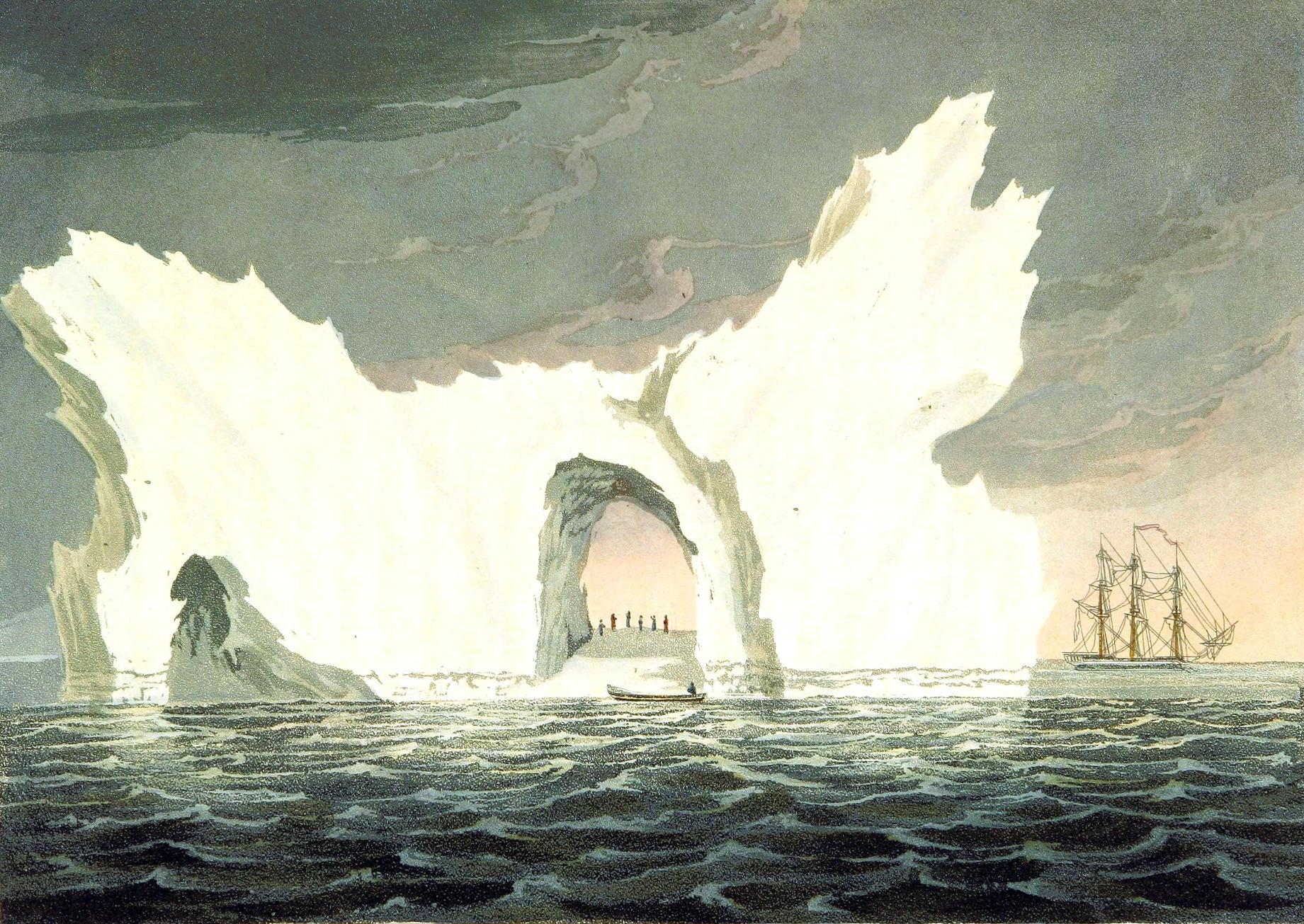 A FREE 19th-century iceberg illustration in the public domain