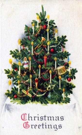 christmas free vintage illustrations - Vintage Christmas Trees