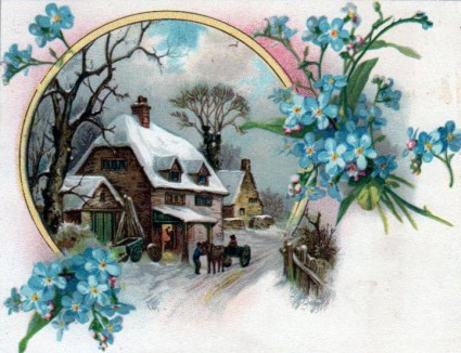 winter illustrations blacksmith shop 20th century