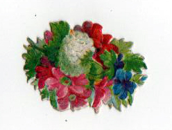 Free Valentine's Day pictures - 19th century illustration scrap of a bushel of flowers