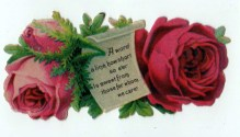 Free Valentine's Day pictures - 19th century illustration Valentine's Day roses