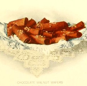 Free vintage dessert illustrations of chocolate wafers