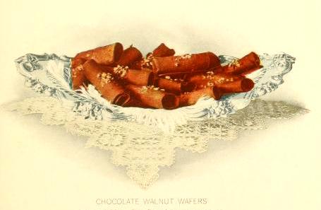 Free vintage dessert illustrations of chocolate wafers