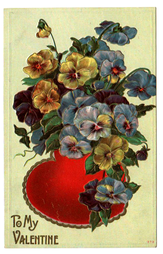 Free Valentine's Day pictures - postcard from the 19th to early 20th century